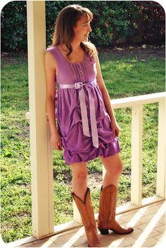 cute dress...tutorial coming.