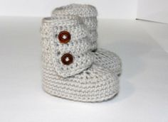 Crocheted Baby Ankle Booties  So cute. :)