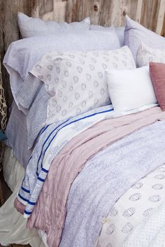 Kerry Cassill - Luxury Indian printed Bedding and Apparel — Navy Rainbow Pillowcase
