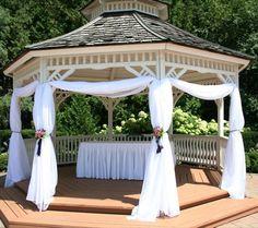 Gazebo Wedding Decorations, Wedding Designs, Florals, Outdoor Structures, Floral, Flowers