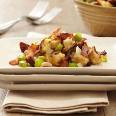 Pitted whole dates and crispy bacon bring new flavors to this sweet and savory stuffing: http://www.bhg.com/thanksgiving/recipes/thanksgiving-side-dishes0/?socsrc=bhgpin122113bacondatestuffing&page=22