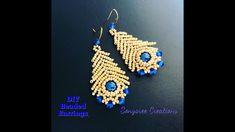 Seed bead jewelry DIY Beaded Earrings ~ Discovred by : Linda Seed Bead Jewelry, Seed Bead Earrings, Jewelry Making Beads, Beaded Earrings, Beaded Jewelry, Handmade Jewelry, Beaded Bracelets, Seed Beads, Bracelets