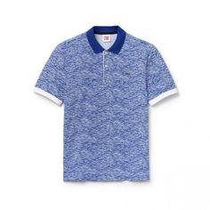 299ad009 Men's polo shirts · Lacoste LIVE ultra-slim fit polo in print mini piqué # men'spoloshirts #