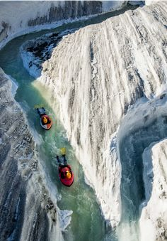 Canyoning glaciers in Switzerland.