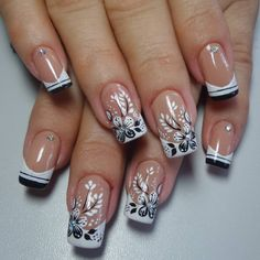 165 Me gusta, 2 comentarios - By Tancinha Castro ( en InstagcramImage may contain: one or more people and closeup French Nail Art, French Nail Designs, Toe Nail Designs, Polygel Nails, Hot Nails, Manicure, Nagellack Design, Colorful Nail Art, Finger Nail Art