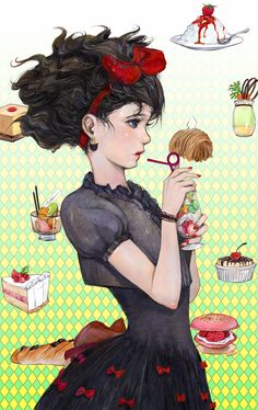 Kiki's Delivery Service by ~amatizking on deviantART    I wish I could draw like this!!! So pretty!