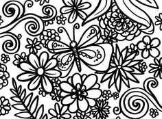 spring coloring pages for middle school