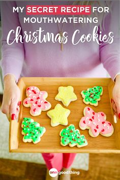 Move over sugar cookies, because there's a new Christmas cookie in town! Learn how to make my mom's famously soft and fluffy Sour Cream Cookies here. Christmas Sprinkles, Christmas Sugar Cookies, Christmas Goodies, Holiday Treats, Christmas Treats, Christmas Baking, Christmas Recipes, Christmas Games, Holiday Foods