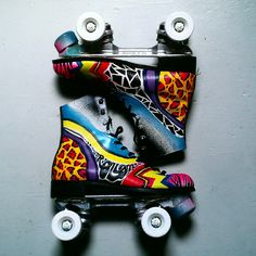 painted roller skate boots!