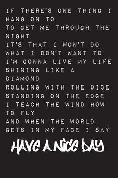 Have a nice day | Bon Jovi lyrics