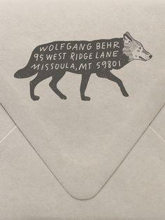 Wolf Custom Stamp