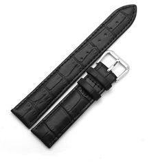 >> Click to Buy << Smooth Soft Leather Cowhide Watch Band Belt for  Watch 20mm 22mm 24mm With Silver Stainless steel Buckle  #Affiliate
