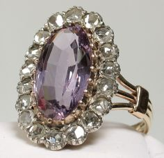 amethyst and diamond ring Vintage