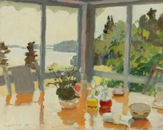 The Table on the Porch, 1971. Fairfield Porter.  We are visiting // THE PARRISH ART MUSEUM