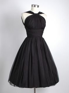 Vintage A-line Straps Knee-Length Chiffon Sash Backless Black Party Homecoming Dress