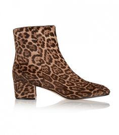 Gianvito Rossi Leopard-Print Calf Hair Ankle Boots