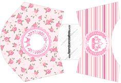 Envelope Fritas Coroa de Princesa Rosa Floral