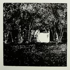 > Jilemnického 531-1  [printmaking, cutting into MDF] #printmaking #woodcut #bunker #art