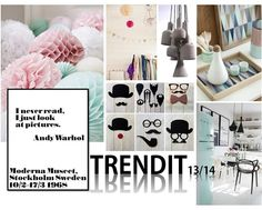 Trend Board/ sweet pastels and moustaches