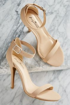 Ankle Strap #Heeled #Sandals #ShopVersona #Versona #Nude #Neutral