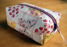 Experimentalk: How to make a cute quilted zippered pouch!
