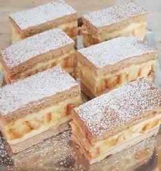 Ünnepi alkalmakra is jó választás, mert nagyon finom és ezt a sütit egyszerűen nem lehet megunni. Hozzávalók: A mézes lapokhoz: 2 kávés kanál fahéj 2 ek olvasztott méz 2 tojás 20 dkg porcukor 5 dkg margarin 2 kávés kanál szódabikarbóna … Egy kattintás ide a folytatáshoz.... → Sweet Desserts, Sweet Recipes, Cake Recipes, Dessert Recipes, Hungarian Desserts, Hungarian Recipes, Homemade Cakes, Cake Cookies, Food And Drink