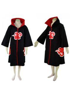 Naruto Atasuki Itachi Cloak Cosplay Outfits Costumes
