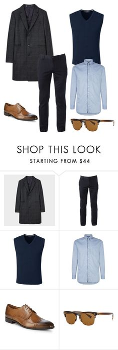 """Classic man outfit"" by eda-kunics on Polyvore featuring PS Paul Smith, Urban Pipeline, Lands' End, BOSS Orange, Massimo Matteo, Dolce&Gabbana, men's fashion and menswear"