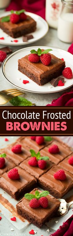 Chocolate Frosted Brownies - chewy, fudgy and perfectly decadent! Love love these!!