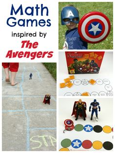 The Avengers Math Games - download the free printables or play outside. Sponsored by #AvengersUnite #ad