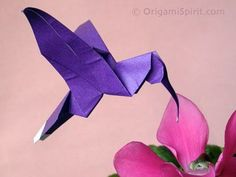 An Easy-to-fold Origami Hummingbird Brian keeps getting origami paper for his birthday and holidays. Nee An Easy-to-fold Origami Hummingbird Brian keeps getting origami paper for his birthday and holidays. Need to make use of it some how ; Origami Design, Diy Origami, Origami Paper Folding, Origami And Quilling, Origami Star Box, Origami Fish, Oragami, Origami Instructions, Origami Tutorial