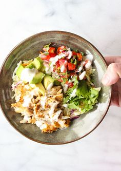 Lisa's Dinnertime Dish: Grilled Fish taco Bowls