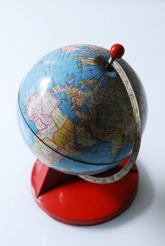 vintage tin world globe sphere from the 50s by siouxsalvage, €80.00