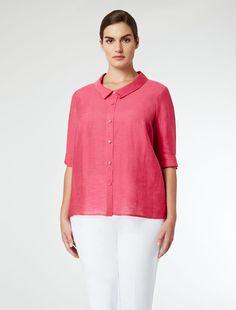 Boxy linen blouse