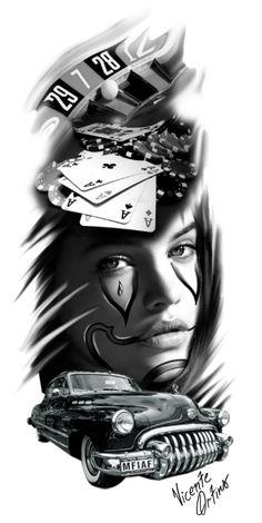 Pin de sevgi özdindar em renkli реализм тату, рисунки чикано e эскиз тату. Chicanas Tattoo, Tattoo Drawings, Body Art Tattoos, Girl Tattoos, Tattoo Sleeve Designs, Sleeve Tattoos, Tatuaje Trash Polka, Photoshop Tattoo, Casino Tattoo