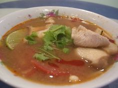 Thai Soup with Chicken and Shrimp