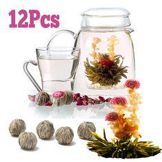 Amazing 12pcs Blooming Flower Tea Vanilla Flavor