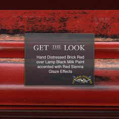 Going for a bold look? This will do it! General Finishes Brick Red Milk Paint over Lamp Black glazed with Red Sienna Glaze Effects.
