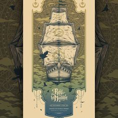 Ray LaMontagne poster for Chateau Ste Michelle Winery in Woodinville, WA on September 5, 2016. Designed by Half Hazard Press.