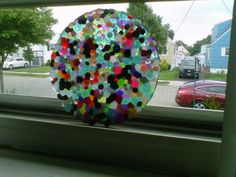 Second sun catcher I made by baking plastic beads in the oven! great summer project must try! :: ecrafty