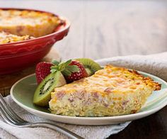 Use leftover ham in this easy quiche recipe.