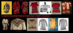 Le giacche da uomo Seminole sono generalmente, come altri tipici elementi del loro abbigliamento, realizzati con tele di cotone stampate utilizzando la tecnica del  patchwork. Il reperto in fondo a destra (le ultime 3 foto) è un raro articolo in pelle.
