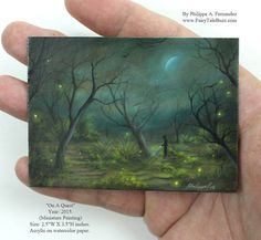 """""""On A Quest"""" ACEO Original Painting By Evocatist Artist Painter Philippe A. Fernandez. – Philippe Fernandez fine art gallery."""