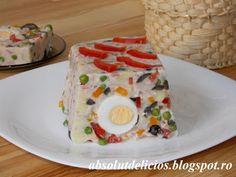 Absolut Delicios - Retete culinare: TERINA DE LEGUME CU OUA, SUNCA SI MAIONEZA
