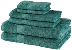 Pinzon 550-Gram Makeup Friendly Cotton 6-Piece Towel Set, Teal Pinzon by Amazon.com http://www.amazon.com/dp/B00LSNDGJ0/ref=cm_sw_r_pi_dp_6VqPvb0RP4QX0