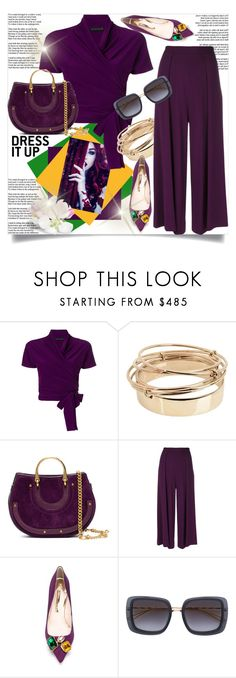 """""""Dress It Up"""" by helenaymangual ❤ liked on Polyvore featuring Etro, Valentino, Chloé, Talbot Runhof, Sophia Webster and Elie Saab"""