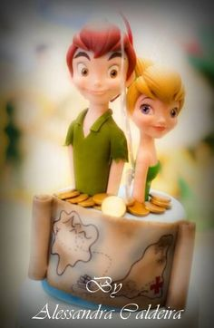 Peter Pan and Tinkerbelle cake by Alessandra Caldeira