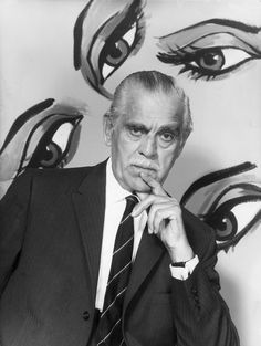 Boris Karloff  1887 - 1969.  Actor, best known for horror films.
