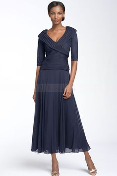 New Style Two-piece V-neckline for Mother of the Bride Dress