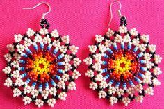 17 Outstanding Styles To Wear Beaded Tassel Earrings Beaded Tassel Earrings, Seed Bead Earrings, Etsy Earrings, Beaded Jewelry, Beaded Flowers Patterns, Beading Patterns, Bead Loom Bracelets, Native American Beadwork, Earring Tutorial